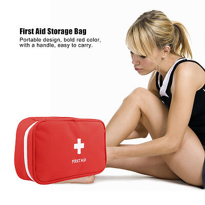 First Aid Kit Emergency Bag Medical Carry Bag Home Car Travel Camping Bag Red