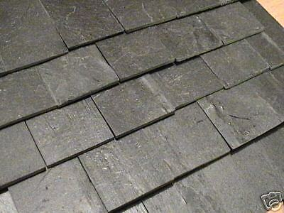 50 1:19th REAL SLATE MINIATURE / DOLLS HOUSE ROOF TILES