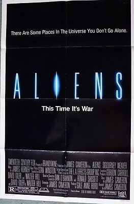 Aliens (Sigourney Weaver) Adv US Single Sided Movie Poster 27 x 40 inches 1986