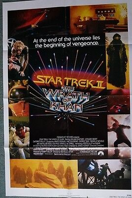 Star Trek II:The Wrath of Khan ( Original US Advance Single Sheet Movie Poster)