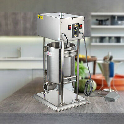 USA Electric 15L Easy Mountable Vertical Sausage Stuffer Stainless Steel