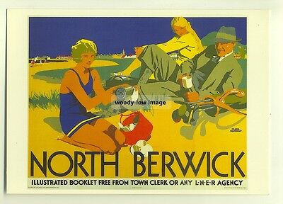 ad2711  -  LNER -  North Berwick  -  modern poster advert postcard