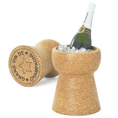 XL Cork Champagne Cooler Wine Ice Bucket ICE10 Drinks Cooling Bucket
