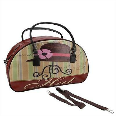 NorthLight 20.25 in. Decorative Vintage-Style Hat Theme Travel Bag & Purse