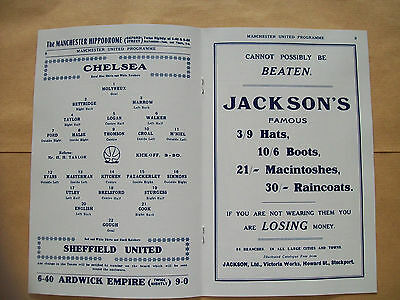 1915 FA Cup final programme Chelsea v Sheffield United in mint condition.