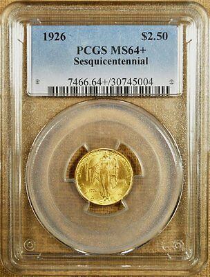 1926 Sesquicentennial PCGS MS64+ $2 1/2 Gold Commemorative