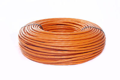 100m CAT7 Netzwerkkabel Verlegekabel Kabel orange KAT7 4x2xAWG23/1