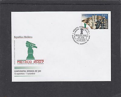 Moldova 2007 Chess Championships First Day Cover FDC Chisinau pictorial p