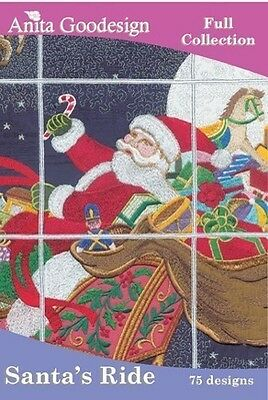 Anita Goodesign Santa's Ride Embroidery Machine Design CD