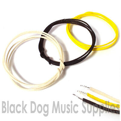 Guitar wire 3x 1 meter lengths of cloth 22 gauge vintage waxed for pickups, pots