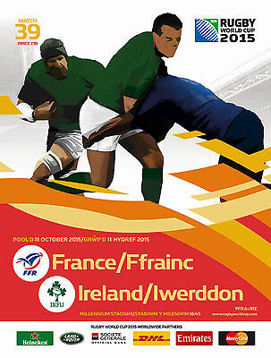 FRANCE v IRELAND RUGBY WORLD CUP 2015 OFFICIAL PROGRAMME 11 Oct Cardiff