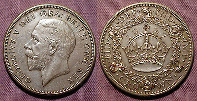 1927 KING GEORGE V SILVER PROOF WREATH CROWN - High Grade