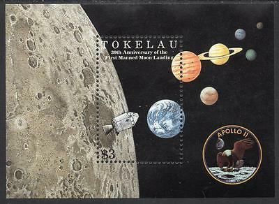 Tokelau MNH 1999 30th Anniversary of the First Manned Landing on Moon Minisheet