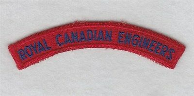 Canadian Army Shoulder Title: Royal Canadian Engineers
