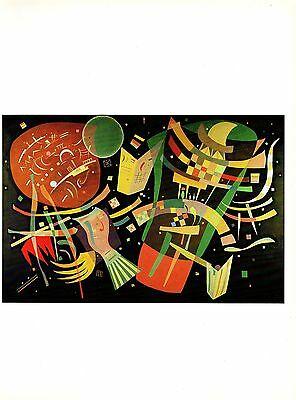"""1979 Vintage KANDINSKY /""""ANIMATED STABILITY/"""" FABULOUS COLOR offset Lithograph"""