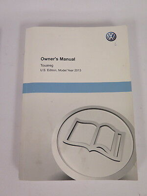 2013 Volkswagen Touareg Owners Manual Guide Book