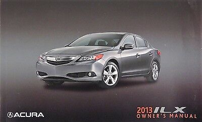 2013 Acura ILX Owners Manual Guide Book