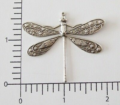 34404         Matte Silver Oxidized Large Dragonfly Jewelry Finding