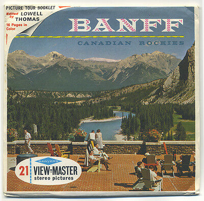 Banff Canadian Rockies Canada 1960's Sawyer's View-Master Packet A-004