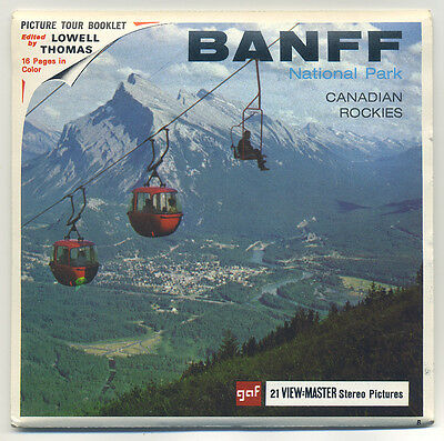 "Banff Canadian Rockies Canada MINT GAF View-Master Packet A-004 ""B"" edition"