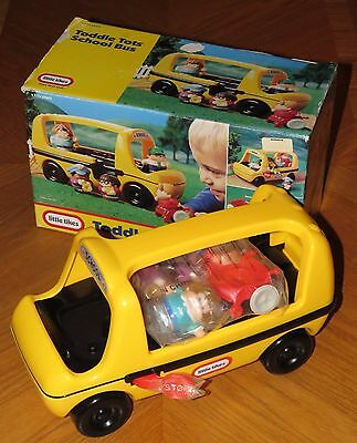 2002 Little Tikes Toddle Tots School Bus wheelchair 5 figures New in Open Box