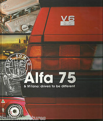Alfa Romeo 75 & Milano Driven to be Different 264 Pages Hardback New Book