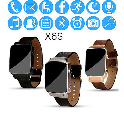 X6S Smart Watch Bluetooth SIM TF Pedometer Smartwatch Sony LG For IOS Android
