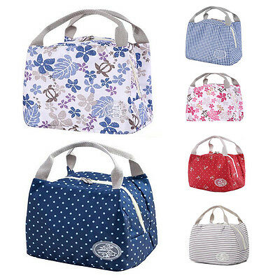 AU Waterproof Portable Lunch Bag Thermal Insulated Cooler Tote Food Storage Bag