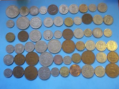 60 Coins Quality Collection  1/2 Pennies To Half Crowns Elizabeth Ii  [# A 79 ]