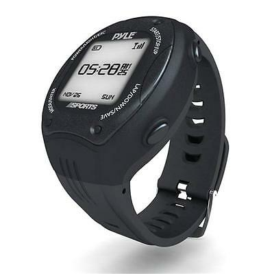Multi-Function Digital LED Sports Training Watch with GPS Navigation Black Color