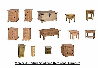 Mercers Furniture® Solid Pine Corona Tortilla Panama occassional Furniture