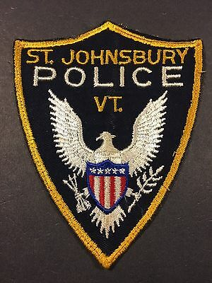 St. Johnsbury Vermont Police  Shoulder Patch Used