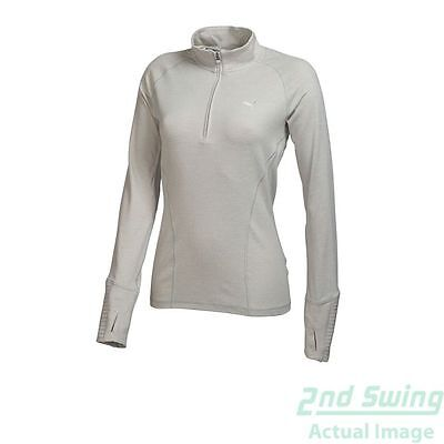 New Womens Puma DC Baselayer 1/4 Zip Pullover SM Heather Gray 569077 MSRP $65
