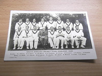 South African Cricket Team 1935