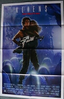 Aliens (Sigourney Weaver) Reg US Single Sided Movie Poster 27 x 40 inches 1986