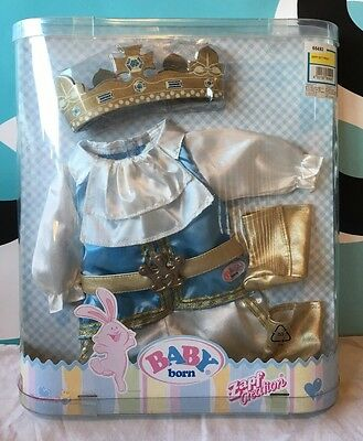 "Zapf Creations Baby Born King Prince Outfit NIP for 13"" Doll Bitty Baby"
