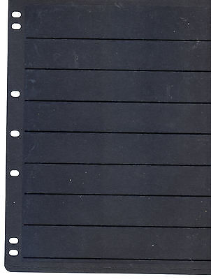 10 Prinz Style One Sided Crystal Mount Looseleaf Black Stock Pages 8 Rows