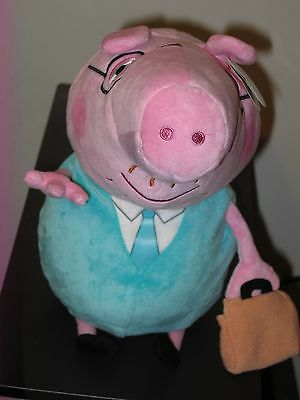 "Ty Beanie Buddy ~ DADDY the Large 9"" UK Exclusive Peppa Pig Plush ~ NEW"