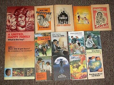 Lot of 14 Leaflets Pamphlets Jehovah's Witness Watchtower Watch Tower