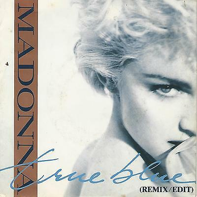 """Madonna """" True Blue (Remix / Edit)/ Holiday"""" 7"""" Made In Italy"""