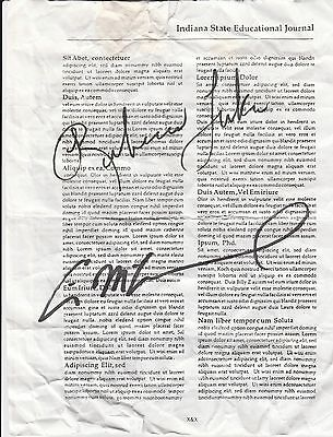 Eric McCormack/Rebecca Luker Autographed Prop Page From Music Man 2001
