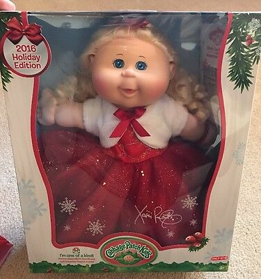 2016 Cabbage Patch Kids Holiday Edition Target Exclusive Blonde Hair Blue Eyes