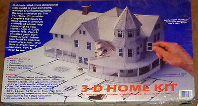 DESIGN WORKS 3-D Home Kit Build a 3D Scale Model of Your Home or Project New