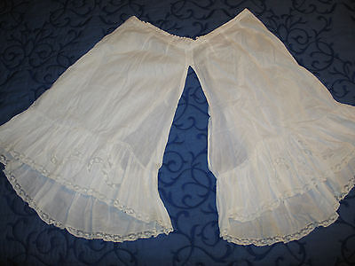 Antique Pantaloons~Bloomers~Hand Made Honiton Lace Inserts-Trim~Hand Embroideryr