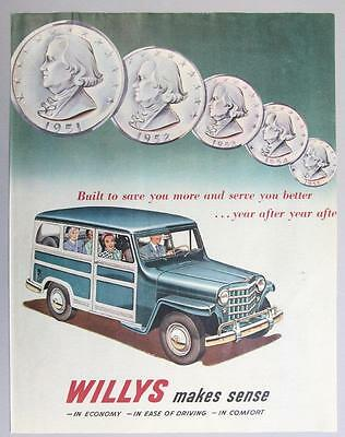 Original 1951 Willys Station Wgaon Ad BUILT TO SAVE YOU MORE  & SERVE YOU BETTER