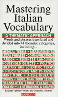 Mastering Italian Vocabulary (Mastering Vocabu... by Klemm, Gunther H. Paperback