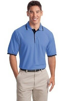 12 New 65/35 Stripe Trim Polo Shirts X- 2XL Embroidered4Ur Business Company Club