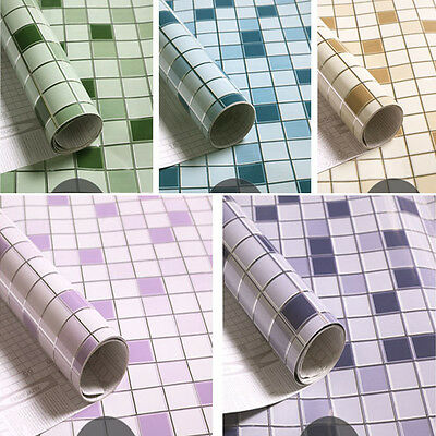 3.28ft Mosaic Sticker Wall Decoration Self-Adhesive Kitchen Wallpaper Waterproof