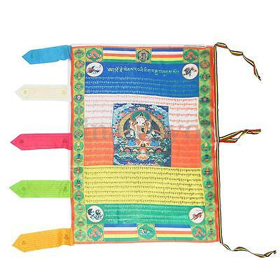 Tibetan Satin Wind Horse Flag Tibetan Buddhism Buddha Prayer Flag Samantabhadra