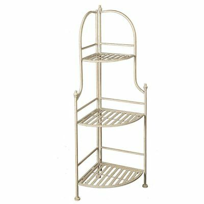 G1181: NOSTALGIA Corner Shelf, Metal Shelves Schwerin, Shelf Rack